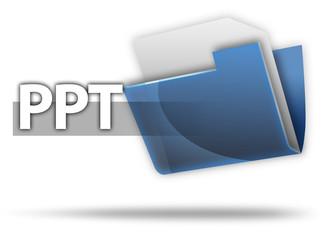 "3D Style Folder Icon ""PPT"""