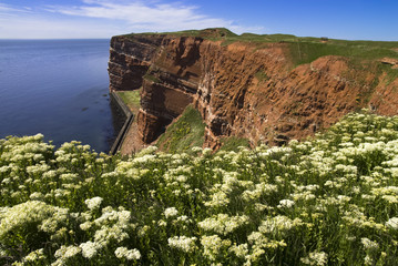 red cliff on Helgoland
