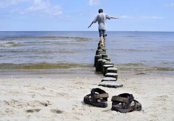 Balance Meer Strand Schuhe
