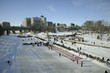 The Forks, Winnipeg, Manitoba in winter