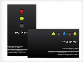 Led design business cards in black