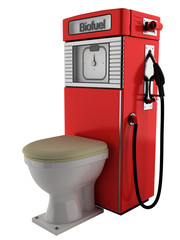 Bio fuel pump and toilet