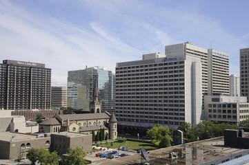 downtown Winnipeg, Manitoba in winter
