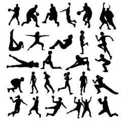 Sport silhouettes, figures