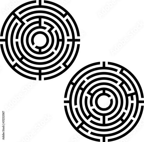 two labyrinths. stencil - 31232067