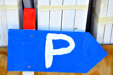 Parkplatzhinweis