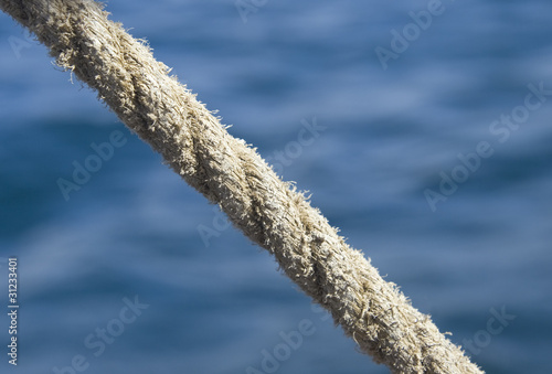 Rope against sea water