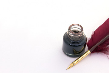 Quill pen and Ink well