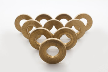 abstraction of brass washer
