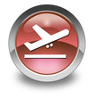 """Red Glossy Pictogram """"Airport Departures"""""""