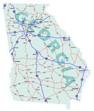Georgia State Interstate Map
