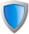 Leinwanddruck Bild - Blue shield illustration