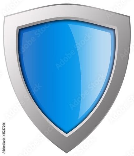 Leinwanddruck Bild Blue shield illustration