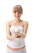 pregnant woman with milk