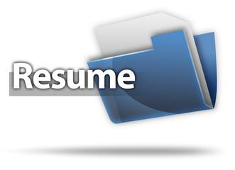 "3D Style Folder Icon ""Resume"""