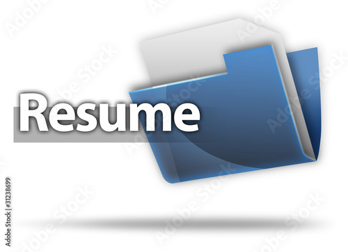 """3D Style Folder Icon ""Resume"""" Stock photo and royalty"