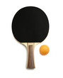 Ping pong paddles and balls