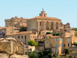 Castle and church in village of Gordes, Provence, France