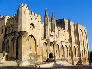 Mighty Popes Palace, Avignon, France