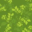 vector green seamless floral texture