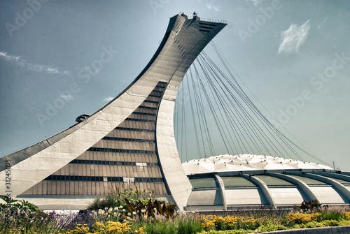 Deurstickers Artistiek mon. Stadium of Montreal, Canada
