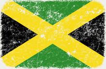 Wektor grunge flaga stylu z Jamajki