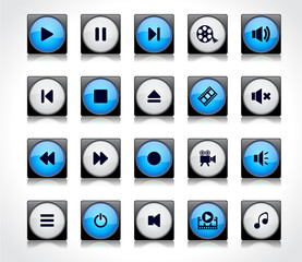 Media buttons.