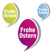 frohe ostern, aufkleber