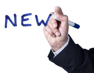 concept de nouveauté NEW