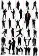 People silhouettes. Men. Women. Pair. Couple. Vector illustratio