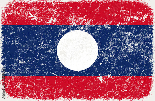 vector grunge styled flag of Laos