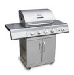 Barbecue gas grill in stainless steel, isolated - 31255232