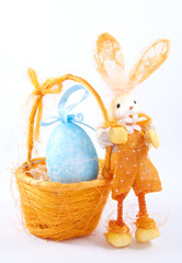 easter baskets egg with rabbit