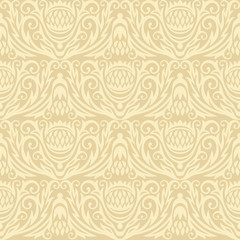 decor seamless gold damask background