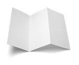 Fototapety leaflet white blank paper template