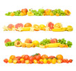 collection of fruit and vegetable backgrounds