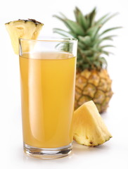Pineapple juice and fruit.