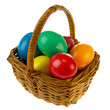 Basket easter eggs