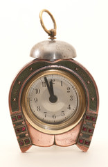 Antique copper alarm-clock