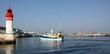Leinwanddruck Bild - port du Guilvinec,finistère,bretagne,chalutier,pêche,phare