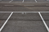 dividing lines asphalt paved parking lot poster