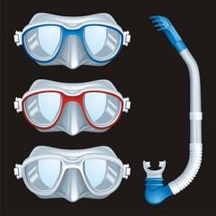 Underwater Masks vector