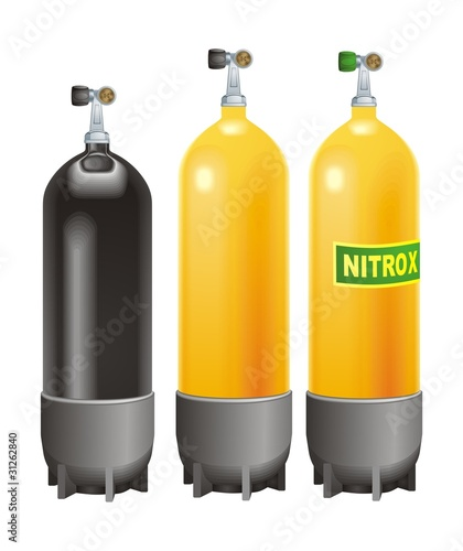 Scuba Diving Tanks  vector