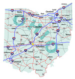Ohio State Interstate Map