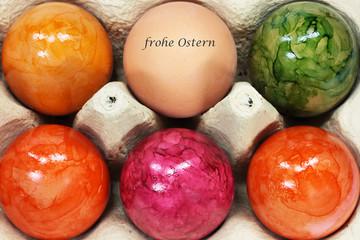 Ostergruss im Eierkarton