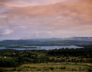 Lough Arrow,Co Sligo,Ireland;View Across Mountains To Lake