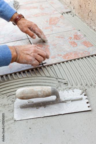 Posa in opera di mattonelle da giardino di antonio - Mattonelle giardino ...