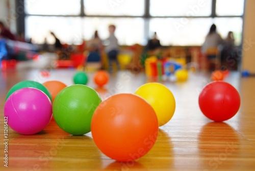 Leinwandbild Motiv Colorfull balls