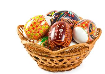 Ukrainian folk patterns Easter eggs