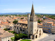 Tarascon and St. Martha's Church from atop the castle, France